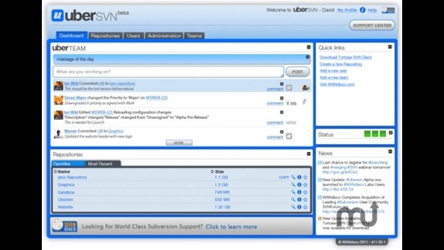 uberSVN for Mac - review, screenshots