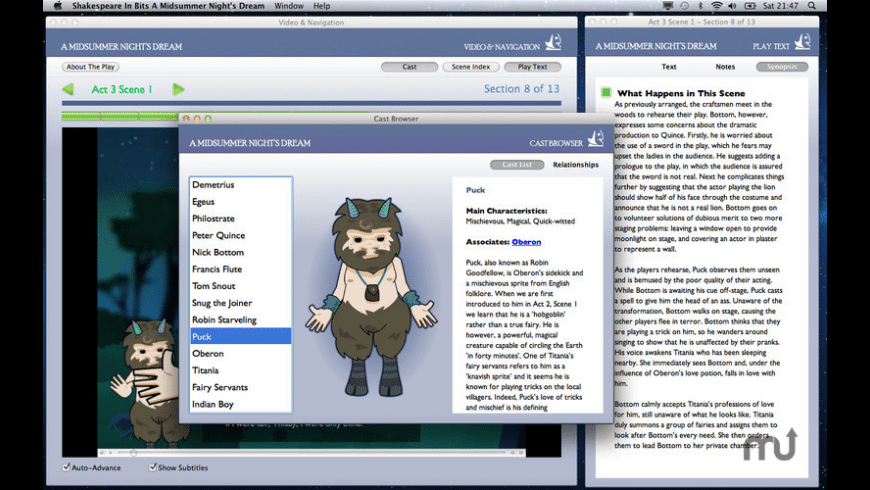 Shakespeare In Bits: A Midsummer Night's Dream for Mac - review, screenshots