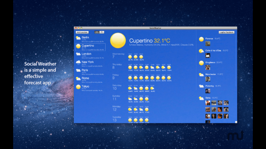 Social Weather for Mac - review, screenshots