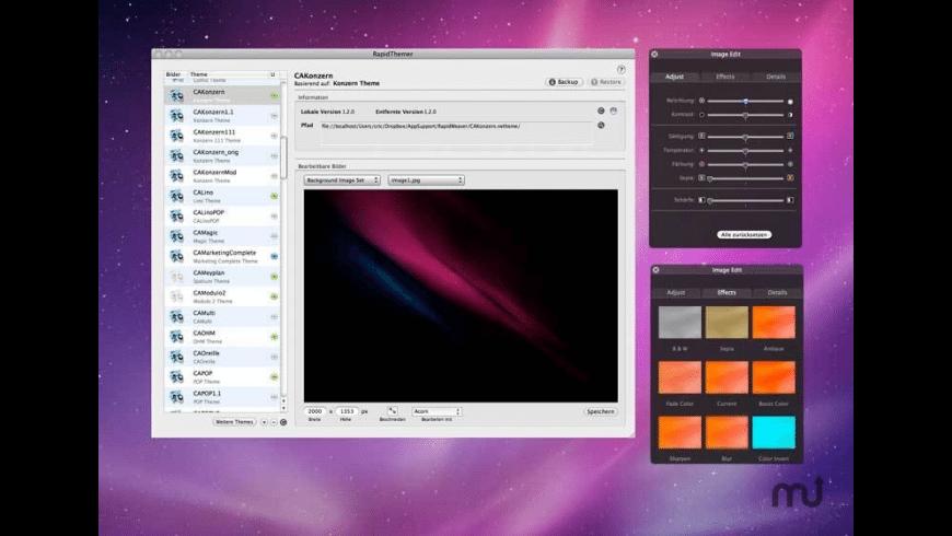 RapidThemer for Mac - review, screenshots