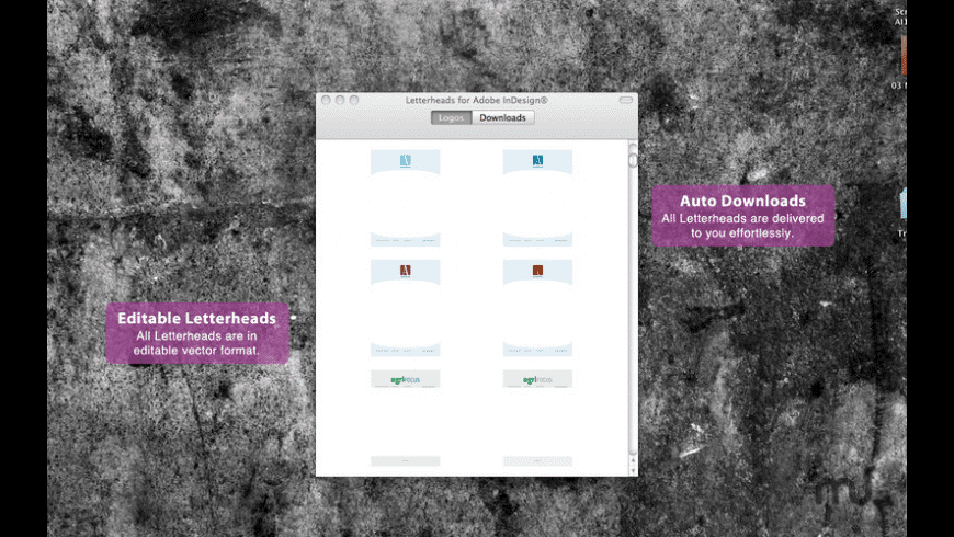 Letterheads for Adobe InDesign for Mac - review, screenshots