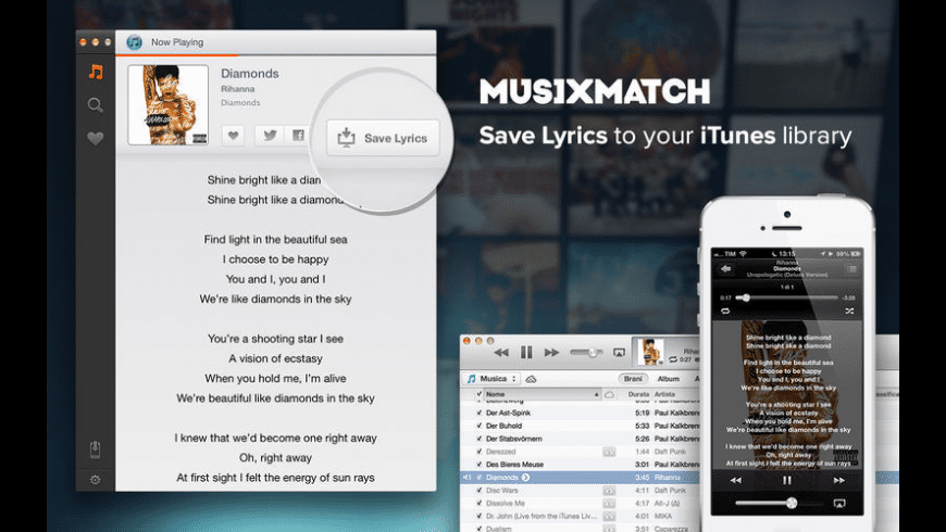 musiXmatch lyrics for Mac - review, screenshots