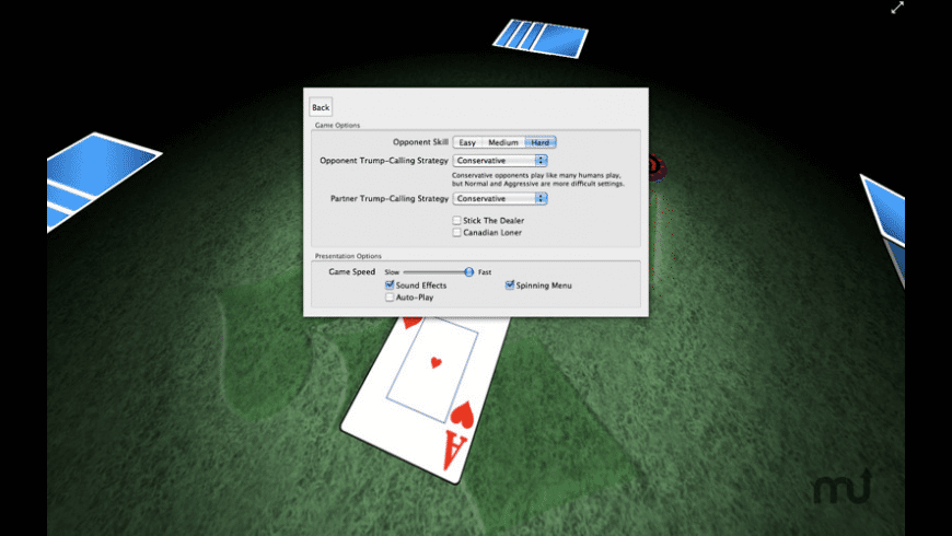 Euchre 3D for Mac - review, screenshots