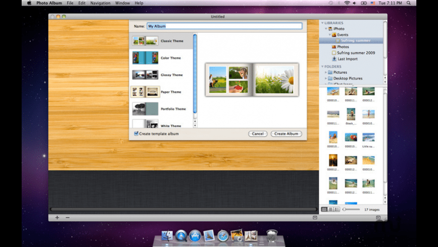 Photo Album  for Mac - review, screenshots
