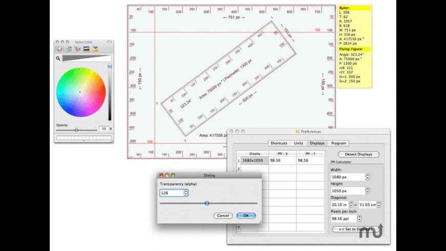 Screen Ruler for Mac - review, screenshots