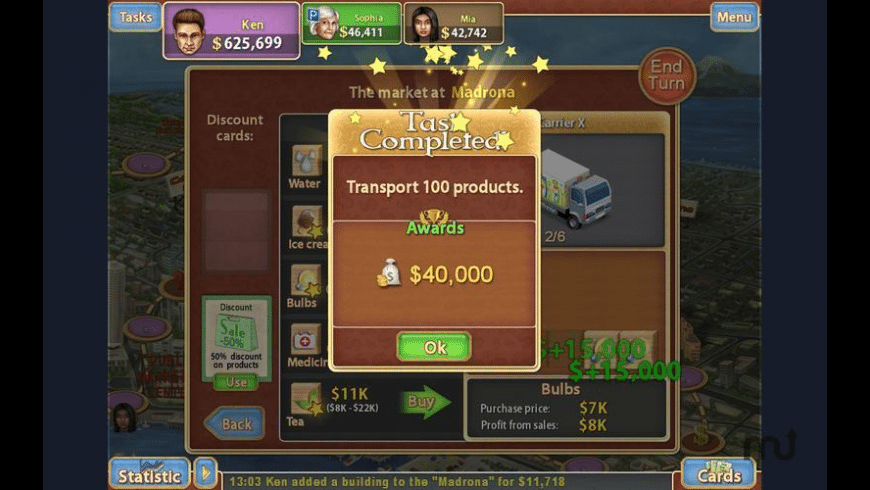 Trade Mania for Mac - review, screenshots