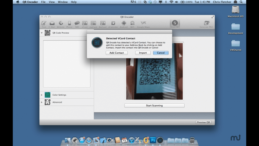 QR Encode for Mac - review, screenshots