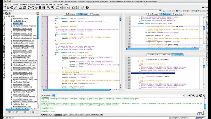 jEdit for Mac - review, screenshots
