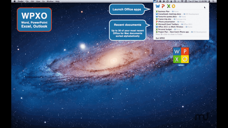 WPXO for Mac - review, screenshots