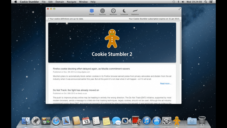 Cookie Stumbler (5 Macs) for Mac - review, screenshots