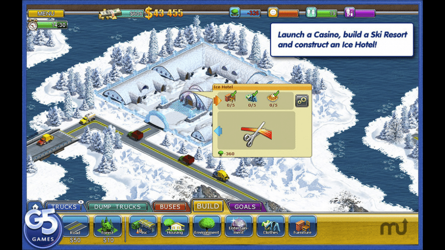 Virtual City 2: Paradise Resort for Mac - review, screenshots