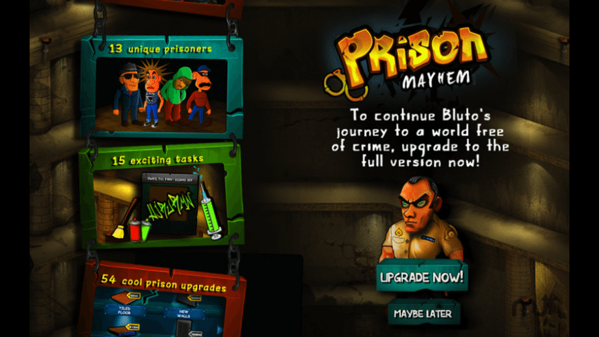 Prison Mayhem for Mac - review, screenshots