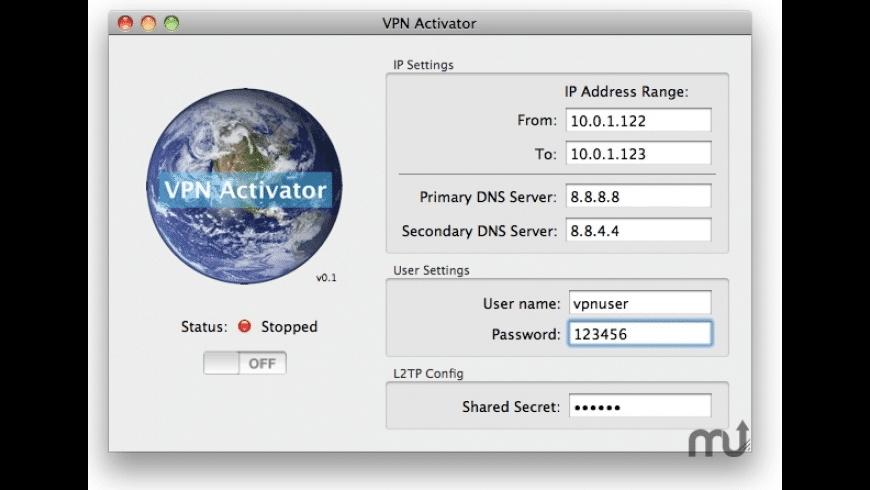 VPN Activator for Mac - review, screenshots
