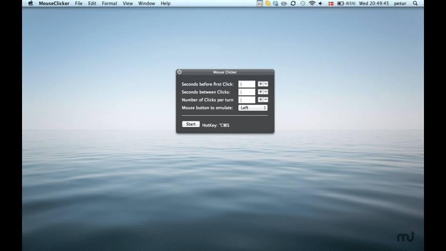 Mouse Clicker for Mac - review, screenshots