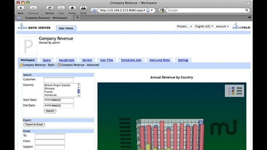 Aqua Data Server for Mac - review, screenshots