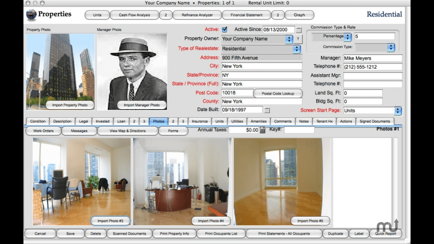 Landlord Report for Mac - review, screenshots