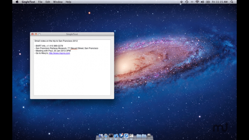 SingleText for Mac - review, screenshots