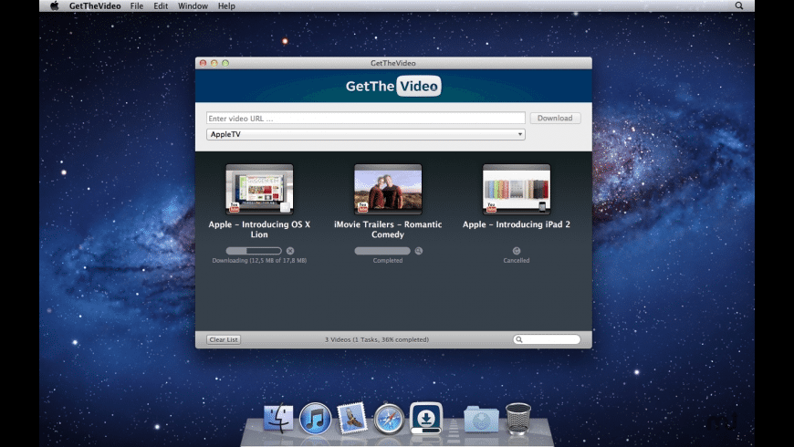 GetTheVideo for Mac - review, screenshots