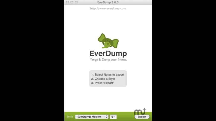 EverDump for Mac - review, screenshots