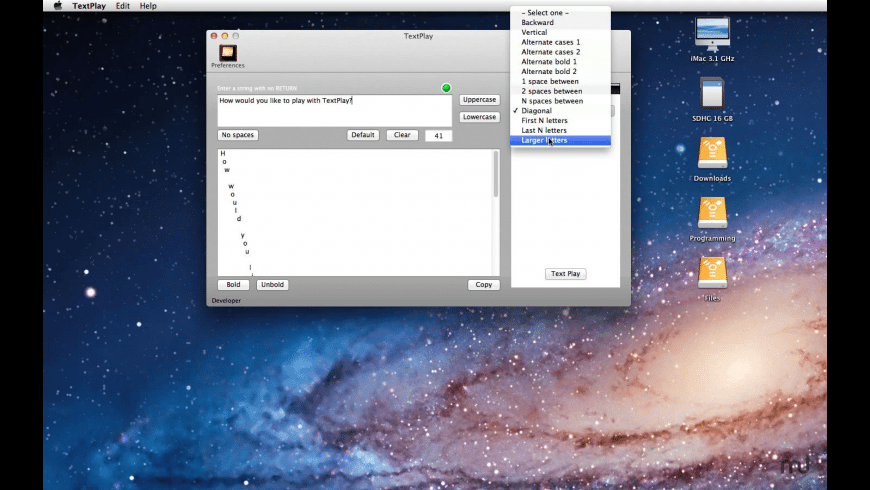 TextPlay for Mac - review, screenshots