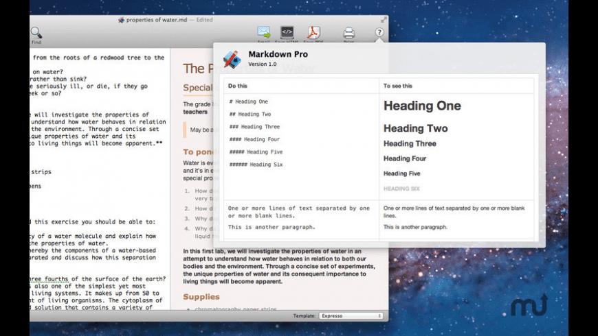 Markdown Pro for Mac - review, screenshots