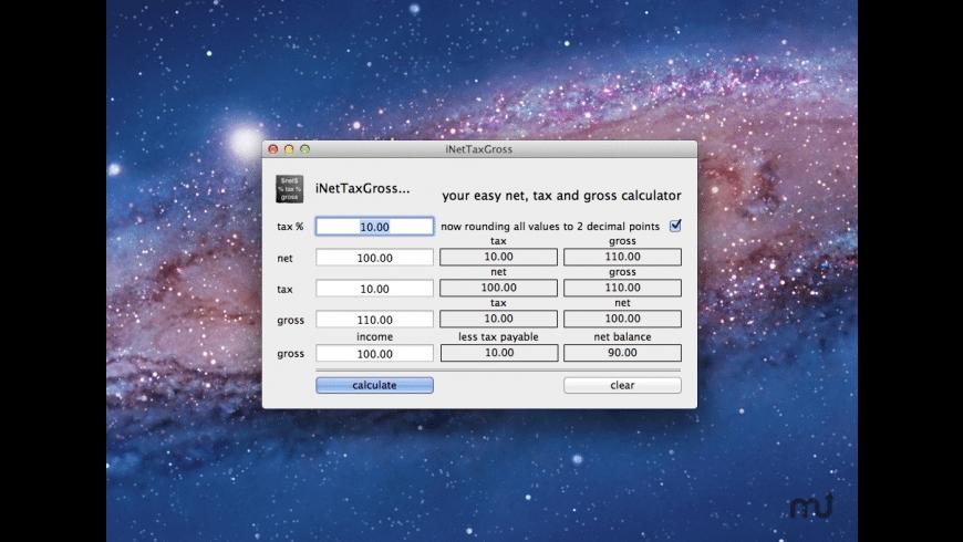 iNetTaxGross for Mac - review, screenshots
