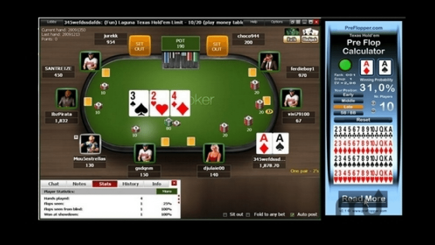 PreFlopper Poker Calculator for Mac - review, screenshots