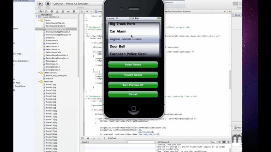 Tutorial for Xcode for Mac - review, screenshots