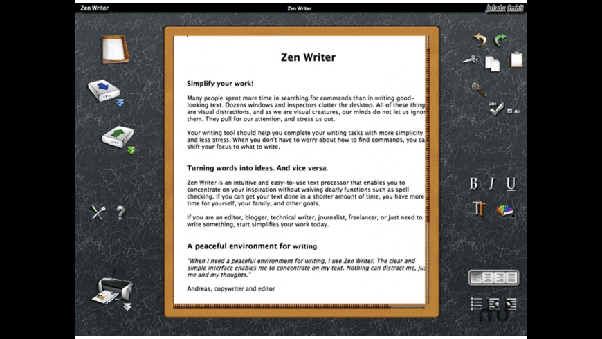 jalada Zen Writer for Mac - review, screenshots