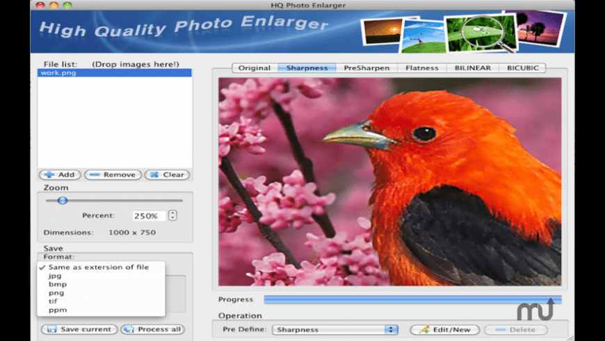 HQ Photo Enlarger for Mac - review, screenshots