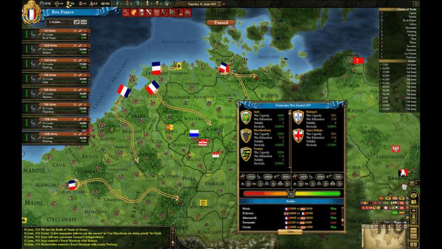 Europa Universalis III Chronicles for Mac - review, screenshots