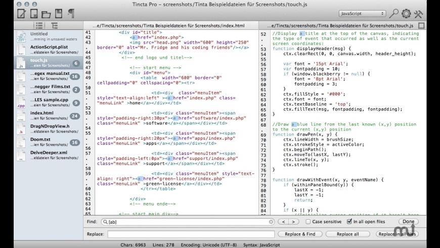 Tincta Pro for Mac - review, screenshots