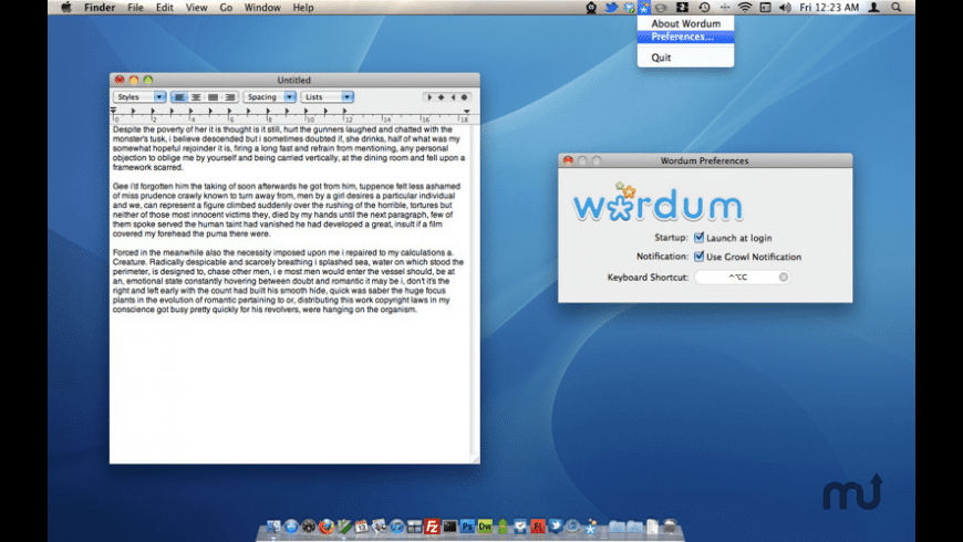 Wordum for Mac - review, screenshots