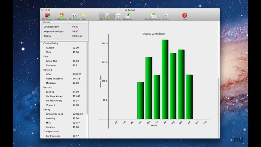 Ez Budget for Mac - review, screenshots