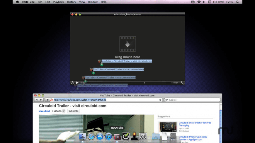 HUDTube Video Player for Mac - review, screenshots