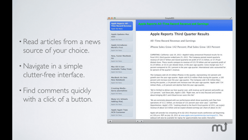SimpleRSS for Mac - review, screenshots