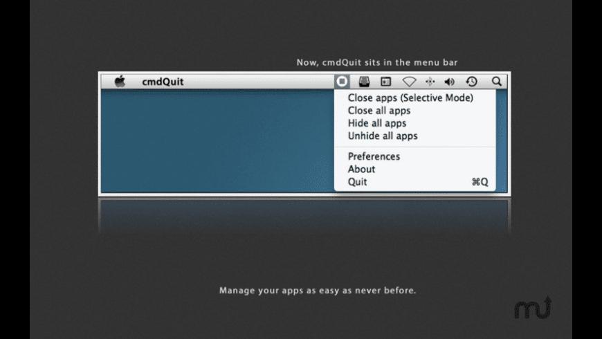 cmdQuit for Mac - review, screenshots