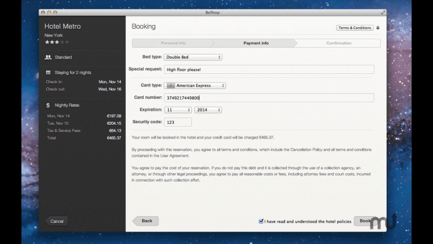 Bellhop for Mac - review, screenshots