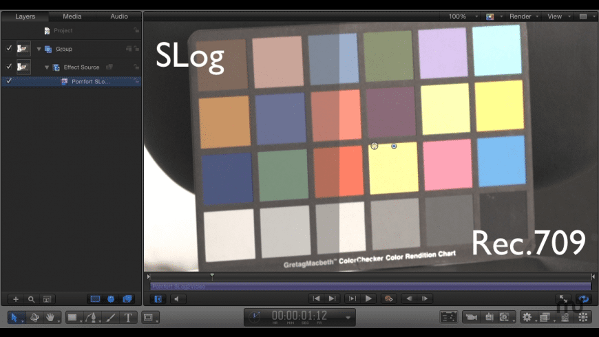 SLog2Video FxPlug for Mac - review, screenshots