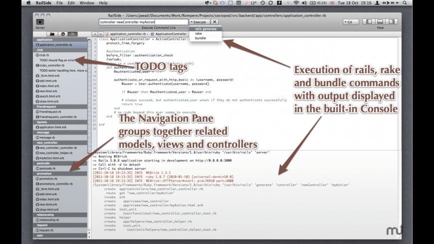 RailSide for Mac - review, screenshots