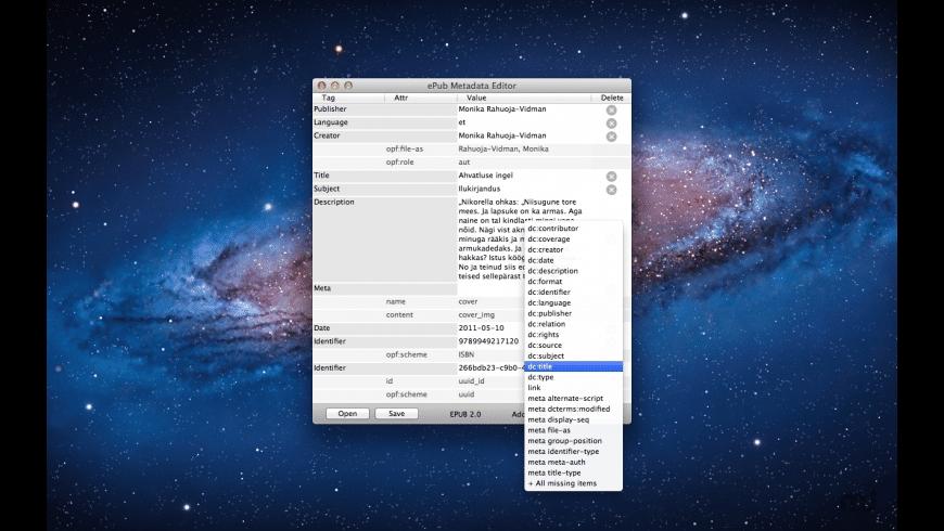 ePub Metadata Editor for Mac - review, screenshots