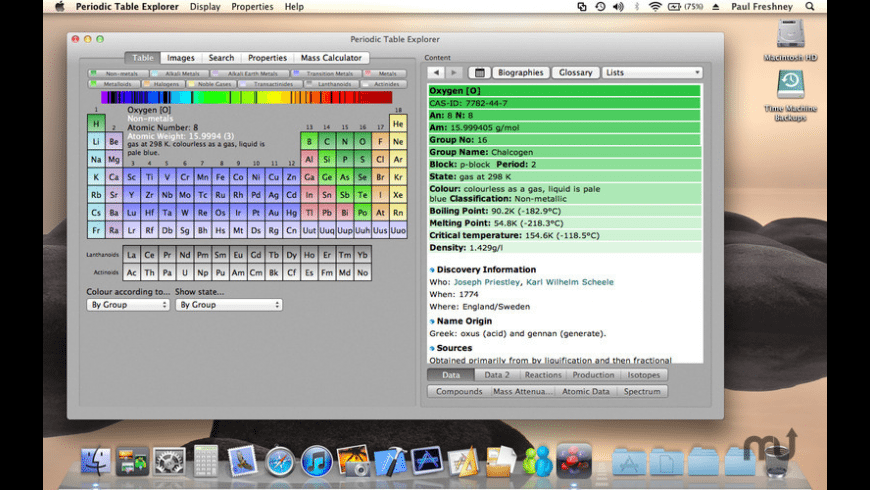 Periodic Table Explorer for Mac - review, screenshots