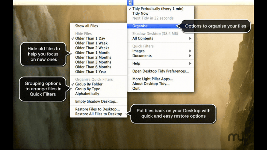 Desktop Tidy for Mac - review, screenshots