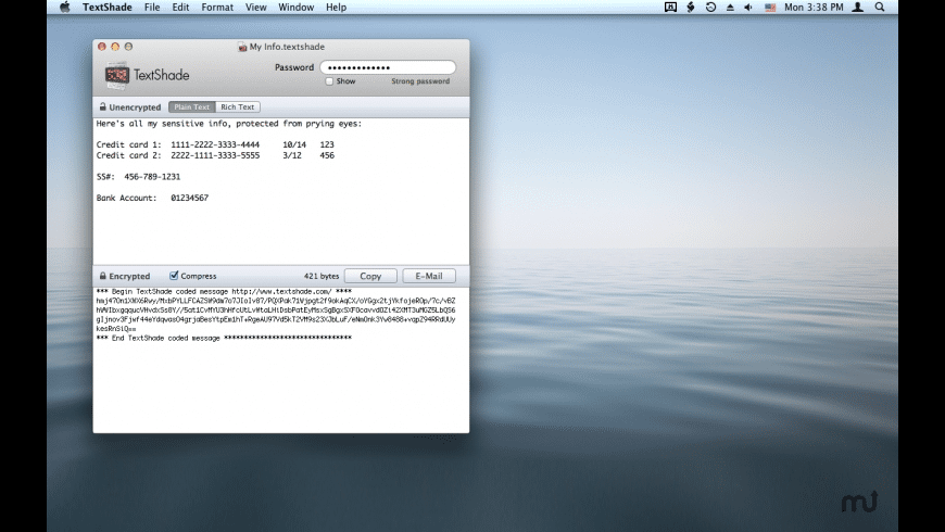 TextShade for Mac - review, screenshots