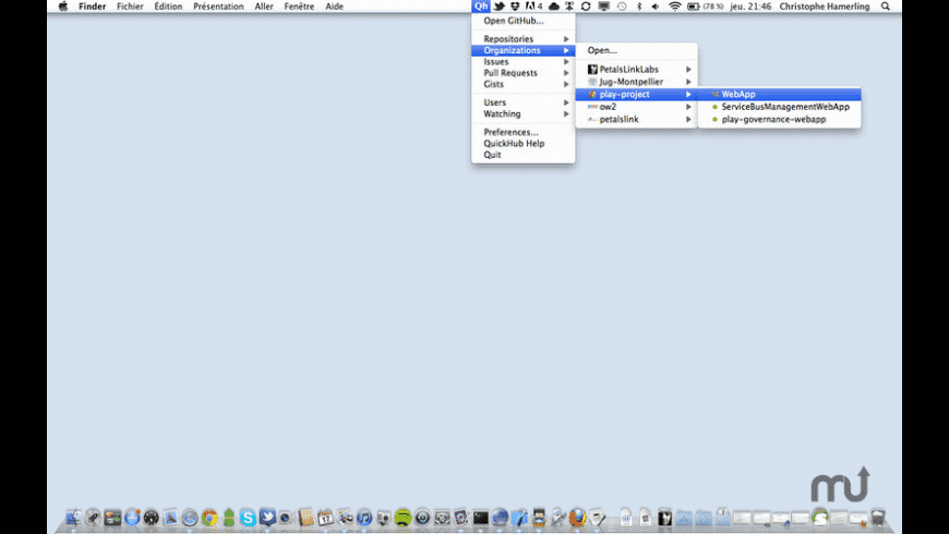 QuickHub for Mac - review, screenshots
