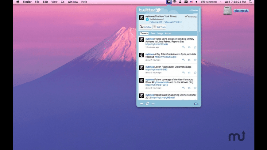 Tweet inside for Mac - review, screenshots