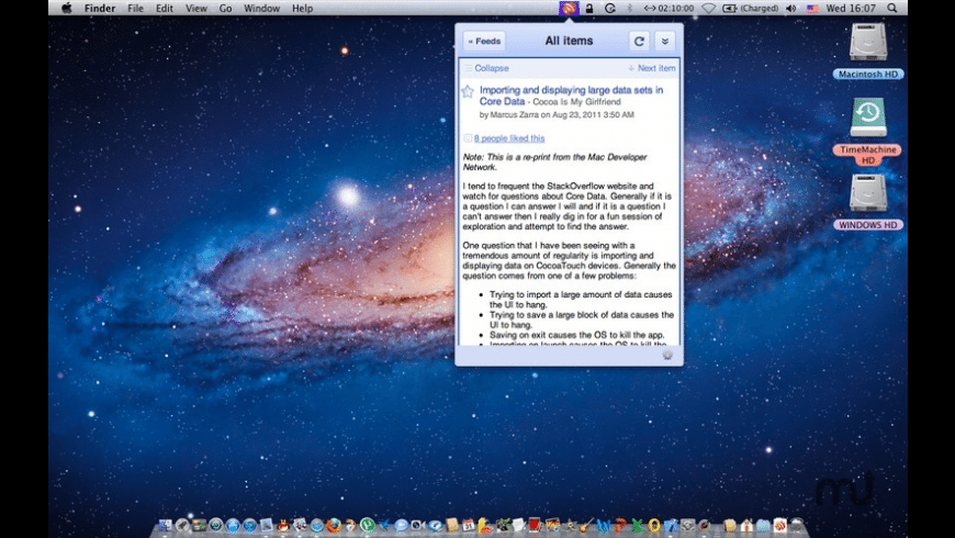 Tab for Google Reader for Mac - review, screenshots