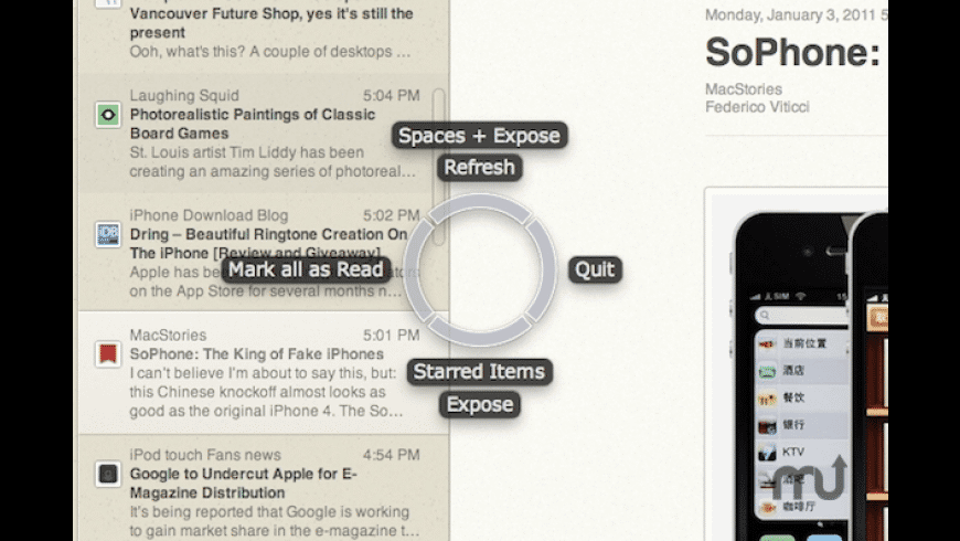 SwiftRing for Mac - review, screenshots