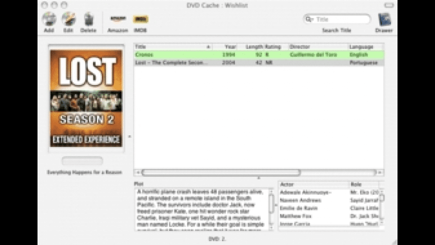 DVD Cache for Mac - review, screenshots