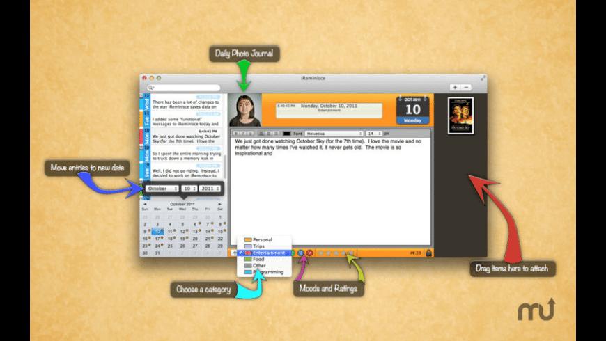 iReminisce for Mac - review, screenshots